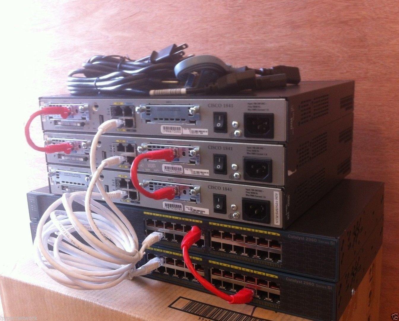 Cisco CCENT CCNA CCNP CCIE R&S LAB 3x 1841 IOS 15 1T 2x 2960-24 IOS